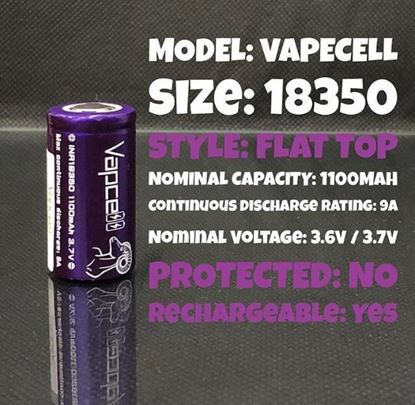 Picture of vapecell battry 18350
