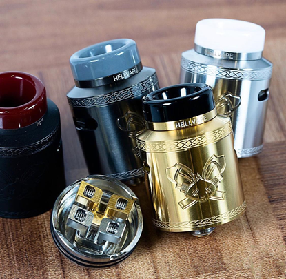 Picture of Dead Rabbit V2 RDA Rebuildable Dripping Atomzier w/ BF Pin - Stainless Steel, 24mm Diameter
