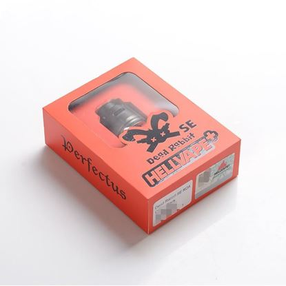 صورة Hellvape Dead Rabbit SE RDA Rebuildable Dripping Vape Atomizer w/ BF Pin - Black, PCTG + SS, 24mm Diameter
