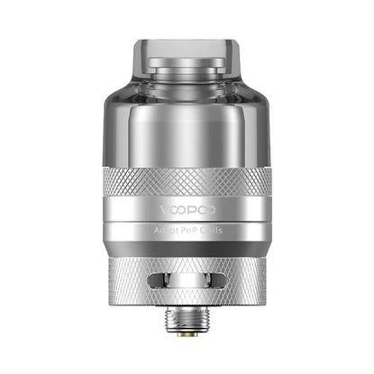 Picture of VOOPOO RTA Pod Cartridge for Drag X & Drag S Pod System Vape Mod Kit-2.0ml + PCTG, 26mm Diameter silver color